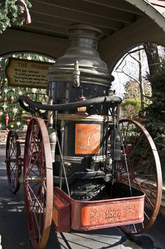 Old Fire engine at Silver Dollar City Missouri.