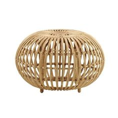 Sika-Design's Franco Albini ottoman was designed by the world-famous Italian architect and designer Franco Albini. The ottoman is made of rattan and characterized by a generous and rounded shape with a light, airy touch. Pouf Ottoman, Large Ottoman, Modern Ottoman, Wicker Furniture, Living Room Furniture, Furniture Design, Nordic Furniture, Cane Furniture, Muuto