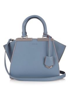 Fendi 3Jours mini contrast-trim leather cross-body bag