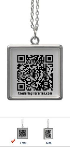 QR Code Necklace-Close-up by The Daring Librarian, via Flickr