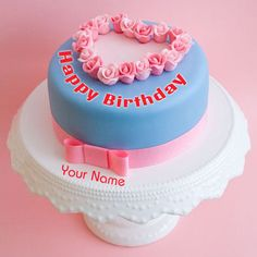 Write Name on Luxury Birthday Cakes Pics.Print Name on Cake For Hot Girlfriend.Online Cake Pics With Name Maker.Write Your Lover Name on Double Decker Bday Cake