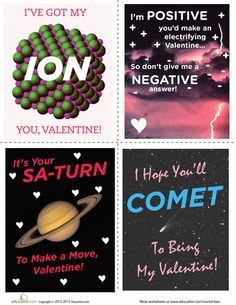 Science Valentine's Day Cards | Education.com