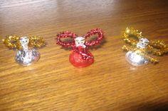 Hershey kiss angel ornament
