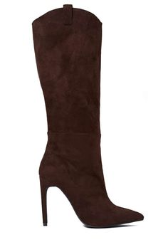 We're booting up this fall and these brown suede beauties by Jeffrey Campbell are at the top of our list.