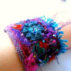 Cirque de Paris textile wrist cuff | by fancypicnic