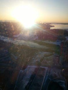 Early morning sunrise in Niagara Falls, Canada