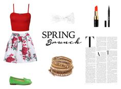 """""""Casual look for spring"""" by akanksha-mahajan on Polyvore featuring WearAll, SchoShoes, Chan Luu, claire's, Bobbi Brown Cosmetics and Stila"""