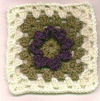Mary's Flower Granny Square  free pattern