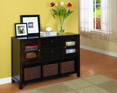 Casual Brown Console Table