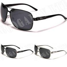 Mens Boys Polarised Sturgeon Aviator Fashion Designer Black Sunglasses 9314 New