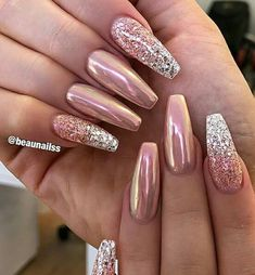 Simple Nail Art Designs That You Can Do Yourself – Your Beautiful Nails Classy Nails, Stylish Nails, Fancy Nails, Trendy Nails, Pink Nails, Cute Nails, My Nails, Gel Ombre Nails, Pink Chrome Nails