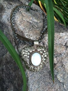 Tibetan Mother of Pearl Pendant Necklace