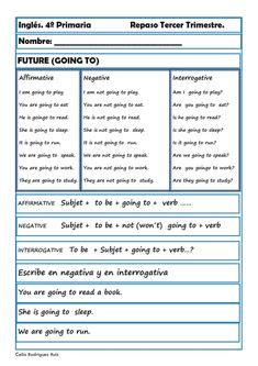 Fichas inglés cuarto primaria. Niños de 9-10 años | ingles | Learn ...