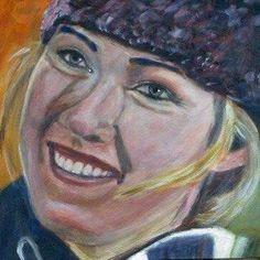 17-year old world slalom champion Mikaela Shiffrin, USA, acrylic on paper 40x40