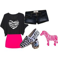 pink and zebra ♥'; can't forget the clothes to match it:)