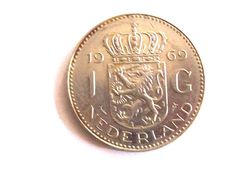 Vintage Holland 1969. 1 goulden coin. by troiloartevintage on Etsy