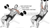 Incline dumbbell fly exercise