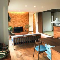 Teak Flooring, Wood Wallpaper, Home Studio, Mosaic Art, Living Room, Interior Design, Table, House, Furniture