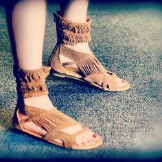 Luv!  Ankle Cuff Gladiator Sandal