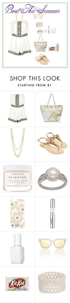 """Beat This Summer"" by oksana-kolesnyk ❤ liked on Polyvore featuring Topshop, Kim Rogers, Gorjana, Accessorize, Herbivore, Lord & Taylor, Kate Spade, Clinique, Essie and Blue Nile"