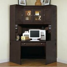 Decorating Interesting Corner Desk With Hutch For Modern Home