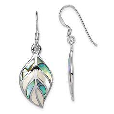 Diamond2Deal 925 Sterling Silver Rhodium Plated Enameled Angel Heart Post Earrings