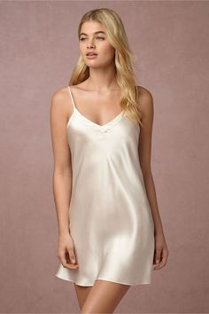 a must have basic | Alma Silk Chemise from BHLDN