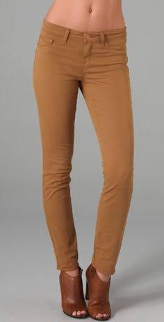 J brand cropped pants in mustard. Loooove. They also come in black, eggplant/etc....
