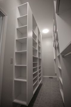 Narrow Walk In Closet Design Ideas, Pictures, Remodel and Decor