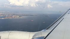 In istanbul and sky. My plane started to go down
