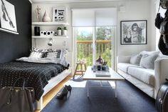 Diese Wohnideen zeigen wie man auf kleinem Raum stilvoll leben kann und dabei Platz für seine Sachen zu schafft.