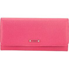 Fendi continental wallet (€515) ❤ liked on Polyvore featuring bags, wallets, continental wallet, long bags, pink wallet, fendi wallet and pink bag