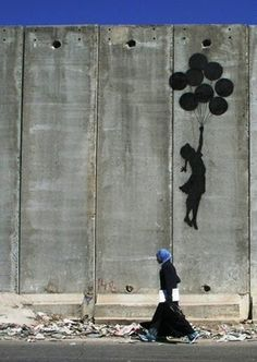 Graffitti artist Banksy