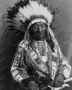 Chief Red Cloud An Indian Vintage 8x10 Reprint Of Old Photo