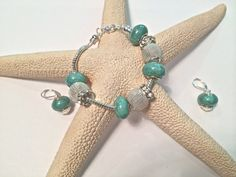 Silvery Teal Ocean Dreams Bracelet and by EmpyreanByDamaris, $30.00