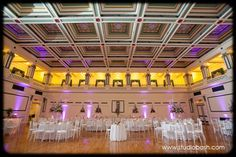 Soldiers & Sailors Memorial Hall & Museum | Auditorium Wedding Ceremony | Pittsburgh | Jillian & Zach | Grand Ballroom | Wedding Reception | Pink and purple wedding | Gray Phoenix Design Lighting | Studio Bash Photography