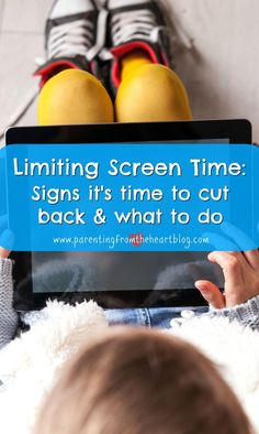 When should you be limiting screen time. What are the signs you and your child are engaging in too much screen time and what can you do about it. What are the consequences of too much screen time in kids? Find screen-free activities, what research says ab Parenting Quotes, Parenting Advice, Kids And Parenting, Natural Parenting, Peaceful Parenting, Screen Time For Kids, Baby Massage, Parent Resources, Happy Kids