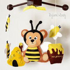 Baby Crib Mobile - Bee Mobile - Ready to Ship Mobile