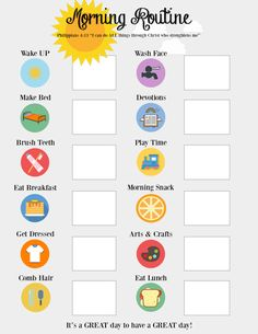 5 Timetable Worksheets for Kids Morning Routine Visual Board √ Timetable Worksheets for Kids . 5 Timetable Worksheets for Kids . Pancake Recipe Worksheet in Worksheets For Kids Daily Routine Chart For Kids, Morning Routine Chart, Morning Routine Kids, Toddler Routine Chart, Morning Routine Printable, Morning Routine Checklist, After School Routine, Daily Checklist, Chore Chart For Toddlers