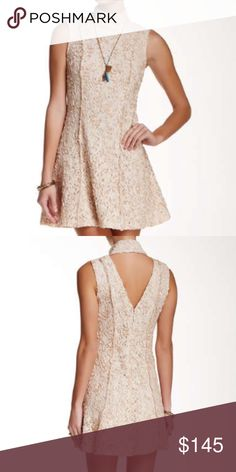 "2x HP Free People Queen Lace Dress Wardrobe Goals 6/18 & Back To Basics 6/22  Simply stunning. Sleeveless turtleneck dress with all over embroidered lace. Features include hidden zipper, cut out back & eyelet closures. This a-line silhouette is fully lined and measures approximately 31"" Long. Color is almond. Please ask if you have questions. Thank you Wendy @warrior04 & @treasuresbyteac!  Free People Dresses"