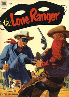 Lone Ranger Painted cover art by Ernest Nordli Old Comic Books, Vintage Comic Books, Vintage Comics, Comic Book Covers, Vintage Magazines, Pulp Fiction Comics, Cartoon Books, Cartoon Characters, War Comics