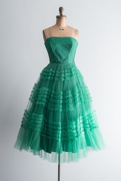 1950s Emerald Green Dress | shopgossamer.com