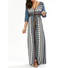 Empire Waist Button Down Flowy Beach Bohemian Maxi Dress Stylish outfit ideas for women who love fashion! Looks Hippie, Hippie Gypsy, Boho Fashion, Fashion Outfits, Beach Fashion, Fashion Clothes, Fashion Site, Men Fashion, Dress Fashion