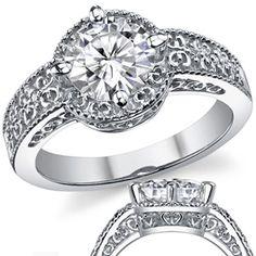 Round Brilliant Antique Inspired Engagement Ring