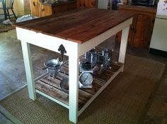 Kitchen island made from scrap wood #diy