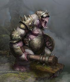 Ogre, Joseph Pegg on ArtStation at https://www.artstation.com/artwork/KPVdG
