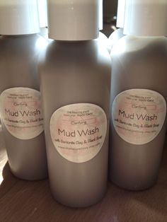 Clarifying Mud Wash: with Black Soap and Bentonite Clay 4oz Travel/Trial Size on Etsy, $6.00