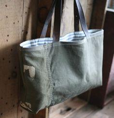 Army style custom canvas bag