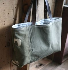 Army style custom canvas bag