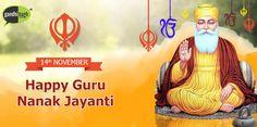 May You Find Happiness And Peace With The Blessings Of Guru Nanak Dev Ji. HAPPY GURUNANAK JAYANTI..!!